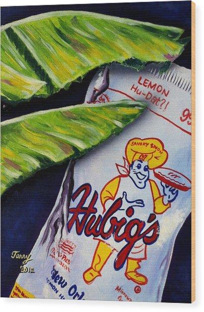 Banana Leaf Series-hubigs Pie Wood Print by Terry J Marks Sr