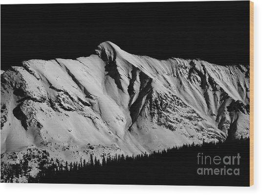 Banff National Park Monochrome Wood Print by Terry Elniski
