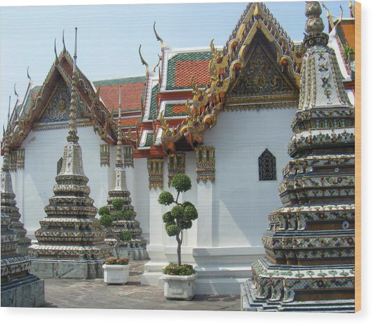 Bangkok Tample Wood Print