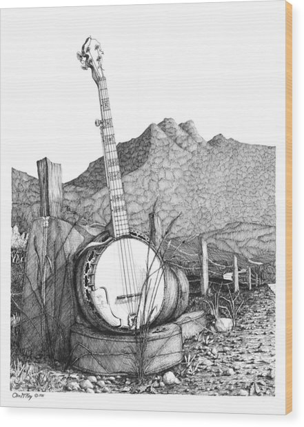 Banjo 2 Wood Print by Olin  McKay