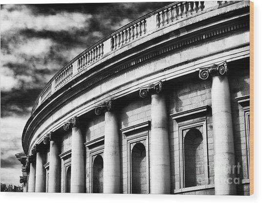 Bank Of Ireland Wood Print by John Rizzuto