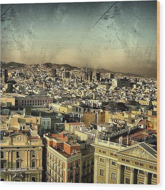 Barcelona Wood Print