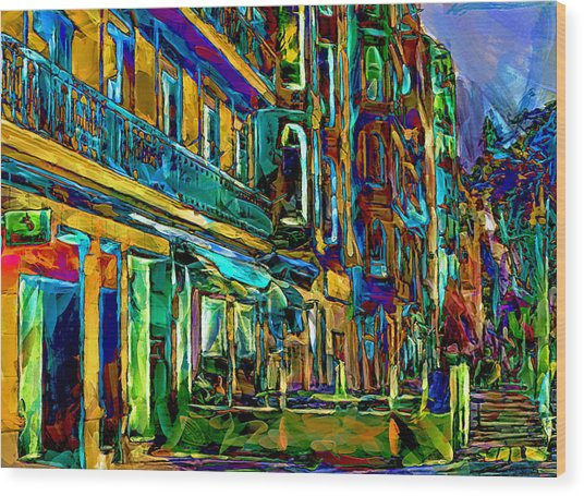 Barcelona Streets Two Wood Print by Yury Malkov