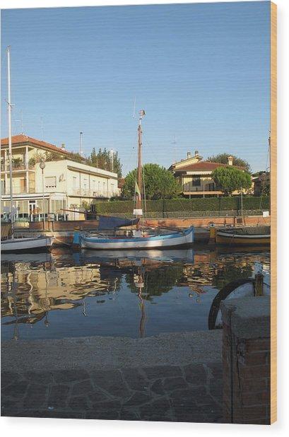 Barche Da Pesca Cervia Porto Wood Print