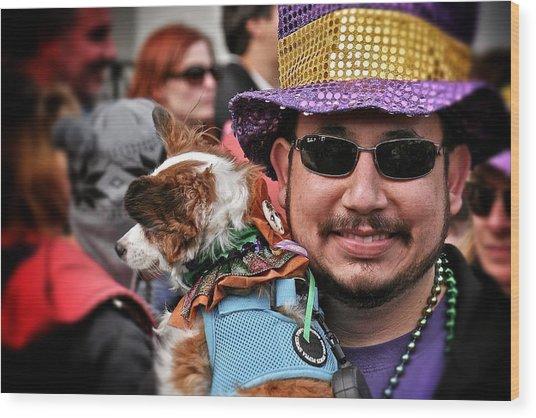 Barkus Mardi Gras Parade Wood Print