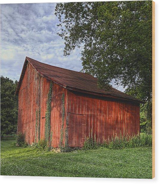 Barn At Avenel Plantation - Bedford Va Wood Print