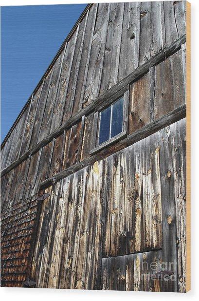Barn End Looking Up Wood Print