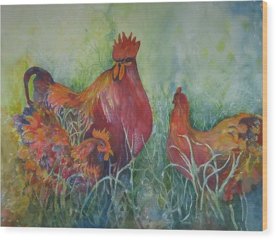 Barnyard Boss Wood Print
