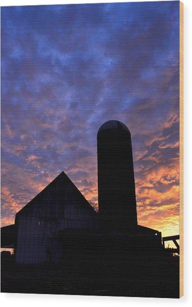 Barnyard Sunrise I Wood Print