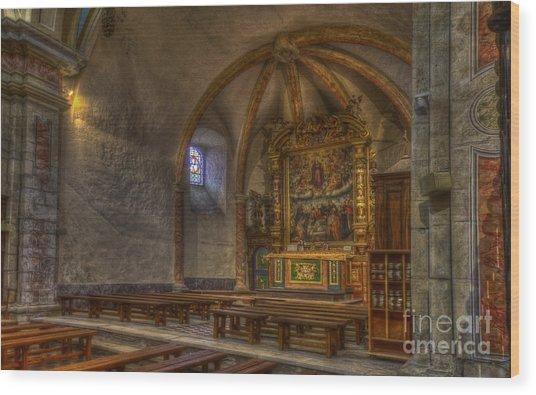 Baroque Church In Savoire France 3 Wood Print