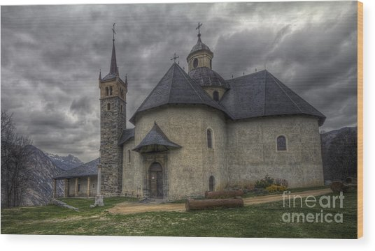 Baroque Church In Savoire France 6 Wood Print
