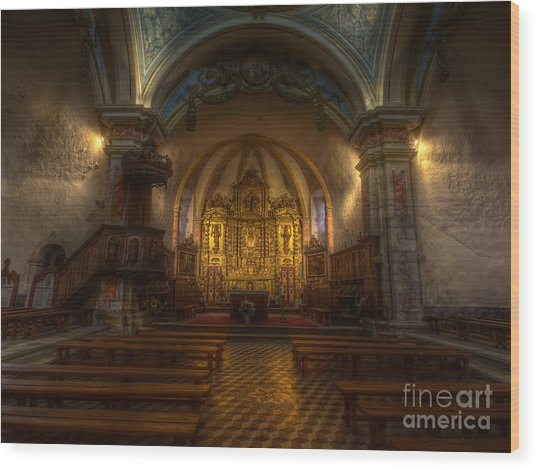 Baroque Church In Savoire France Wood Print