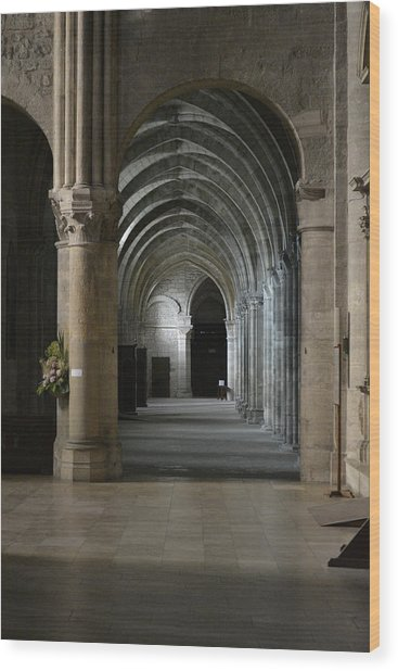 Basilica In Reims Wood Print by Dickon Thompson