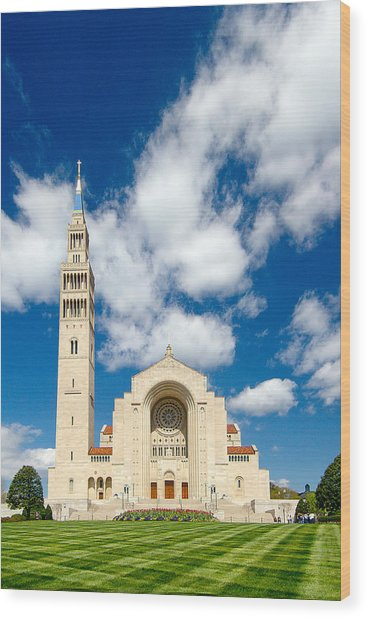 Basilica Of The National Shrine Of The Immaculate Conception Wood Print