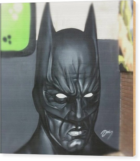 #batman By #jodyt During Wood Print