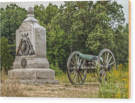 Battery D 1st Ny Light Artillery At Gettysburg Wood Print by Randy Steele