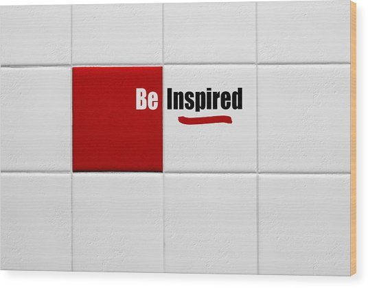 Be Inspired Modern Style Red Tile Wood Print