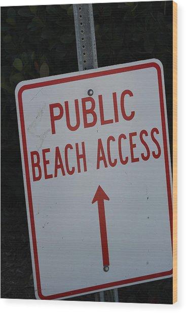 Beach Access Wood Print by Static Studios