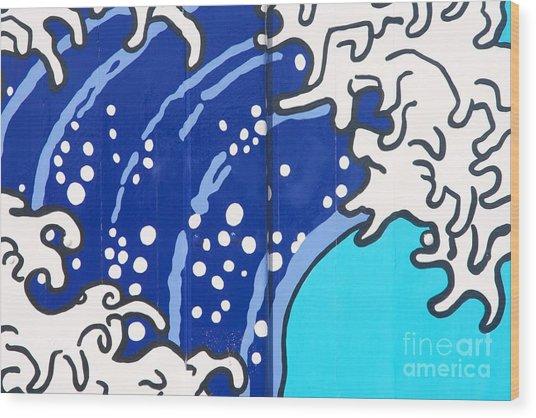 Beach House - Big Wave I Wood Print by Hideaki Sakurai