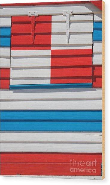 Beach House - Tricolore I Wood Print by Hideaki Sakurai