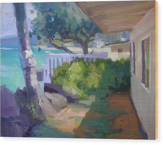 Beach House Wood Print by Richard Robinson