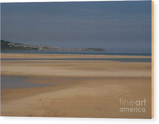 Beach Wood Print by Keith Sutton