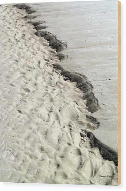 Beach Sand Wood Print