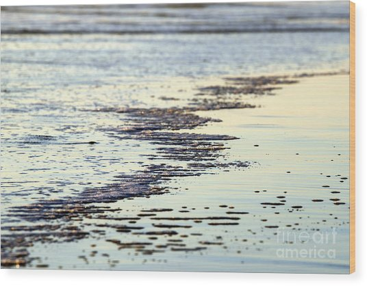 Beach Water Wood Print