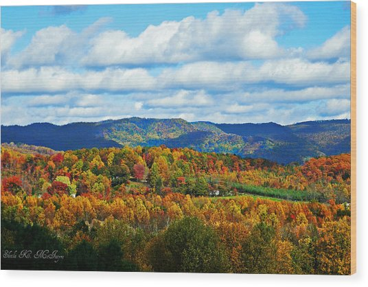 Beautiful Blue Ridge Mountains Wood Print