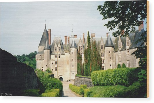 Beautiful Chambord Castle Wood Print