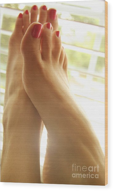 Beautiful Feet 2 Wood Print by Tos Photos