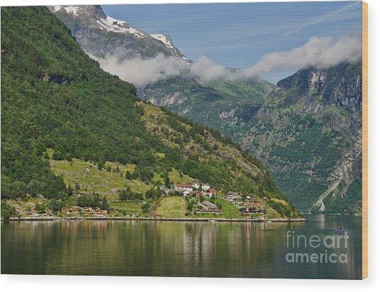 Beautiful Geiranger Norway Wood Print
