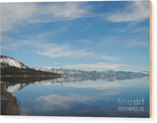 Beautiful Lake Tahoe Wood Print