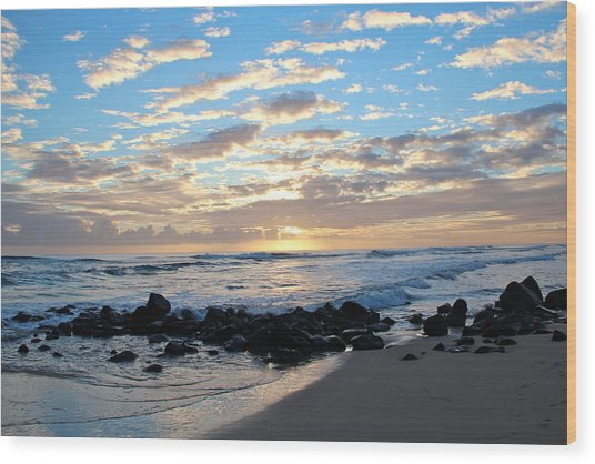 Beautiful Morning Wood Print by Kimberly Davidson