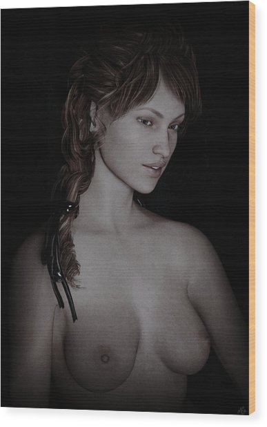 Beautiful Nude Study Wood Print