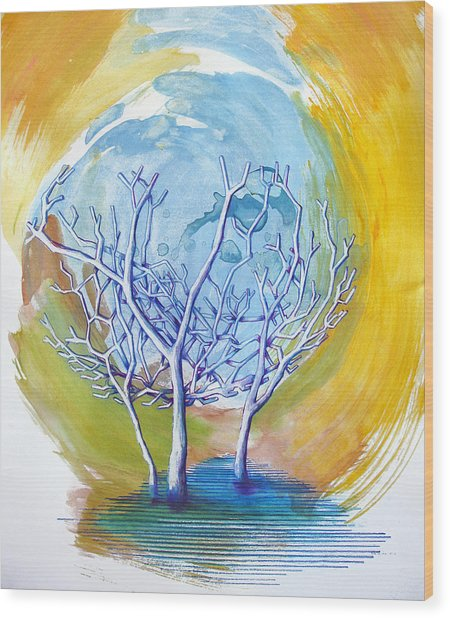 Wood Print featuring the painting Beautiful On Purpose by Rene Capone