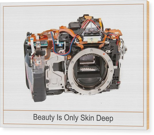 Beauty Is Only Skin Deep Wood Print