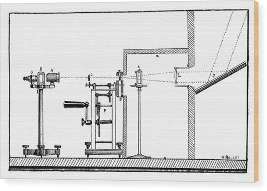 Becquerel Phosphoroscope, 19th Century Wood Print by