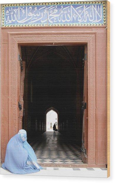 Beggar Woman Wood Print