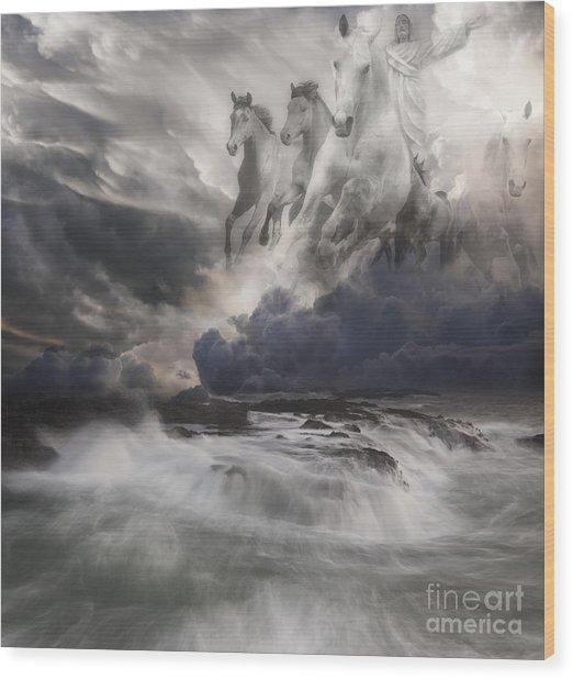Behold A White Horse II Wood Print