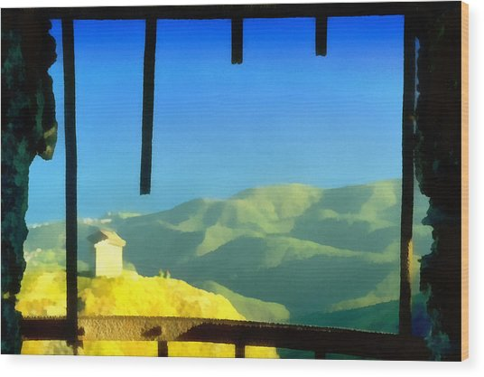 Beigua Landscape From Miniera House Wood Print