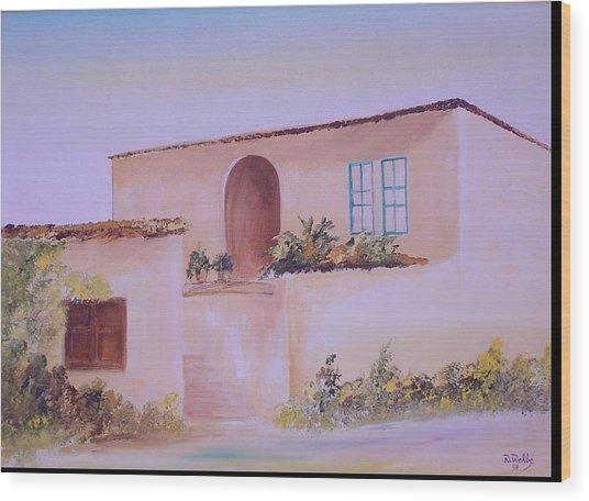 Bekaa House Wood Print by Nabil Wehbe