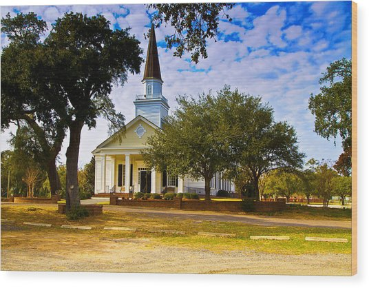 Belin United Methodist Church Wood Print