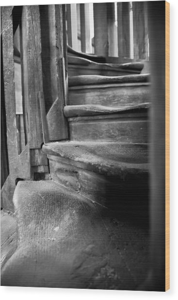 Bell Tower Steps1 Wood Print