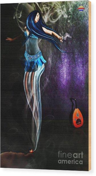 Belly Dance Genie Wood Print by Vidka Art