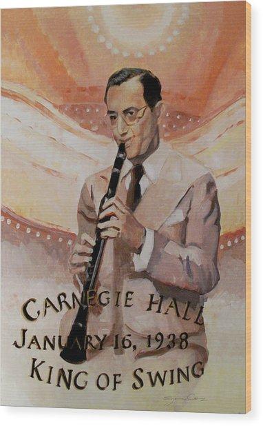 Benny Goodman Portrait Wood Print
