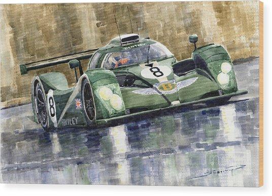 Bentley Prototype Exp Speed 8 Le Mans Racer Car 2001 Wood Print