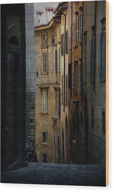 Bergamo Alley Wood Print