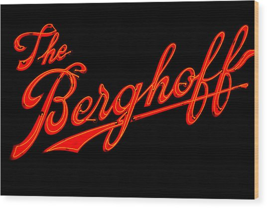Berghoff Wood Print by Zannie B