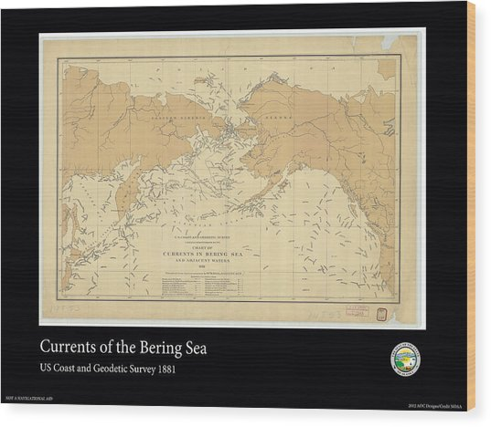 Bering Sea Currents 1881 Wood Print by Adelaide Images